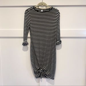 Old Navy striped long sleeve dress sm petite NWT